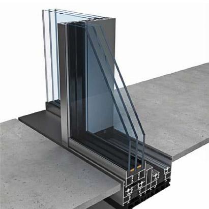 rahmenloses schiebe und fenstersystem keller minimal windows. Black Bedroom Furniture Sets. Home Design Ideas
