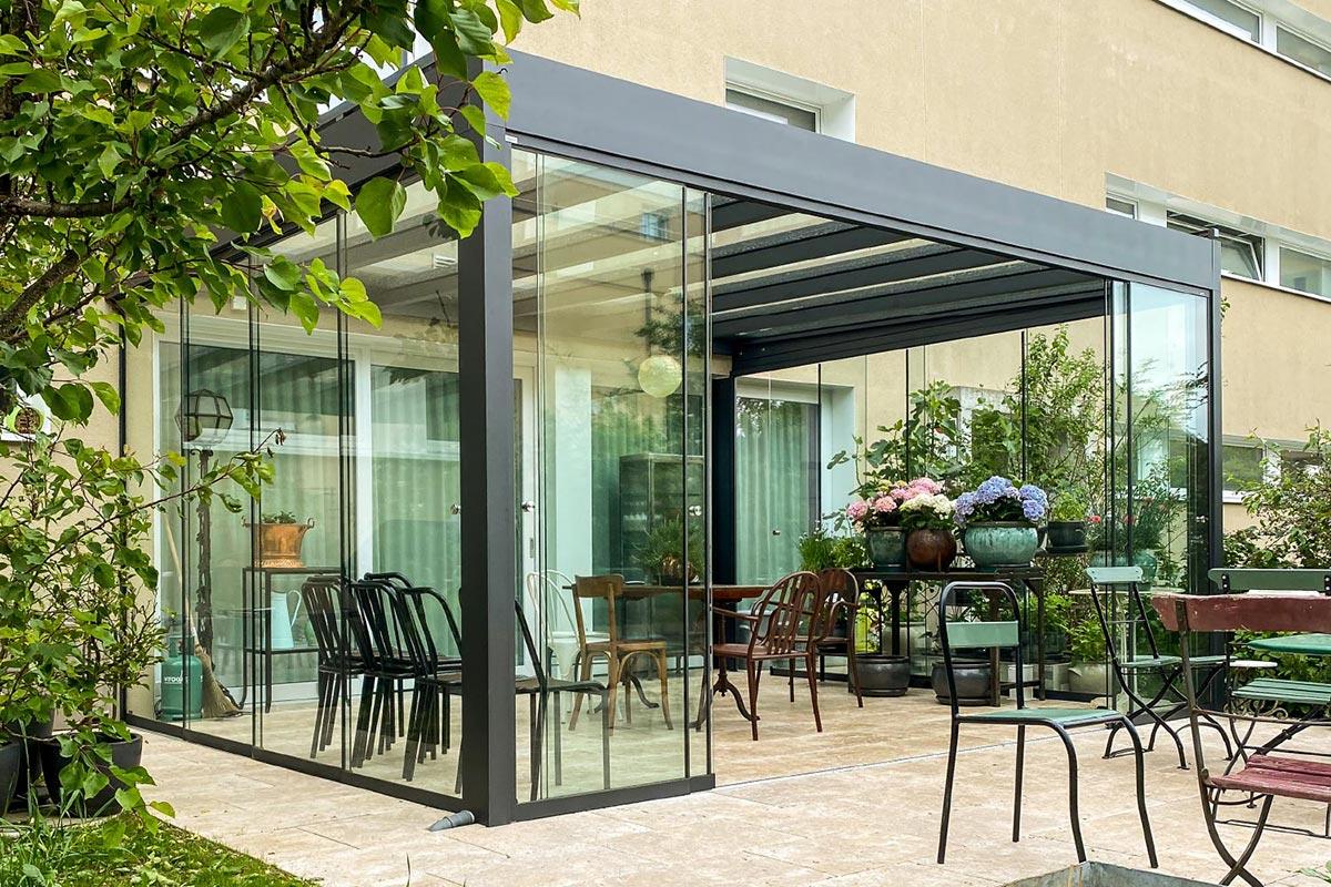 Sommergarten Cubo Terrassenverglasung