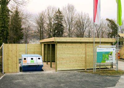 Carport Campingplatz Holz