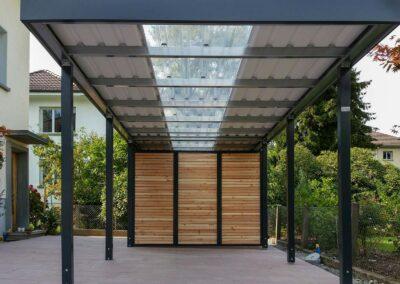 Carport mit Plxiglasdach