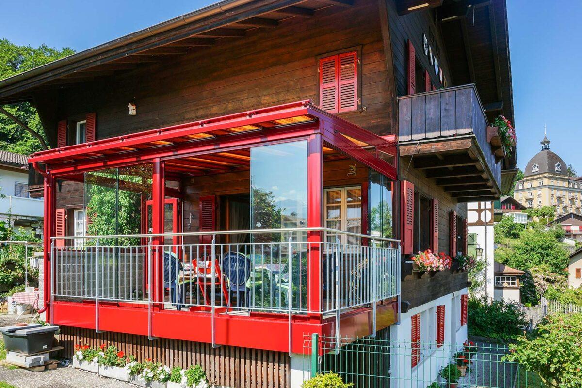 Sommergarten mit Glasdach und seitlicher Vollglasschiebewände VG15 Terrado Nyon Hawaii40