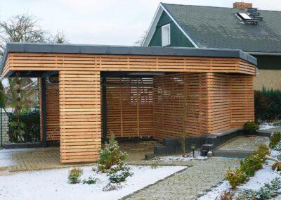Pool 22 Carport Holz