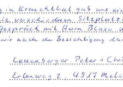 Referenz Sitzplatzüberdachung Blaser Karl AG