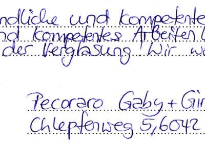 Referenz Wintergarten Blaser Karl AG