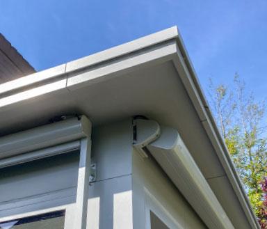 BERNA Terrassenlounge Classic, Sitzplatzüberdachung Holz Aluminium