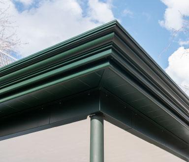 BERNA Terrassenlounge Elegance, Sitzplatzüberdachung Holz Aluminium