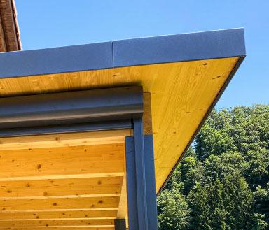 BERNA Terrassenlounge Light, Sitzplatzüberdachung Holz Aluminium