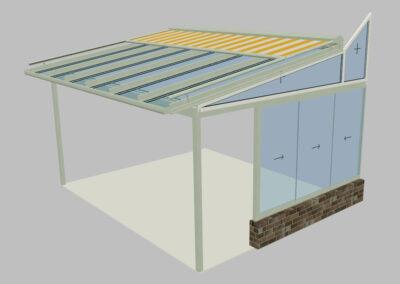Vorprojekt Visualisierung Wintergarten Sitzplatzüberdachung Terrassenüberdachung