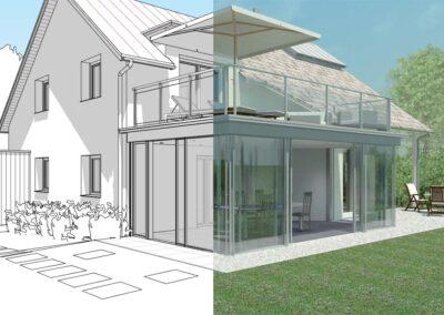 Visualisierung Fotorealisitisch Blaser Karl AB - Wintergarten Fotorealistisch - 3D Wintergarten