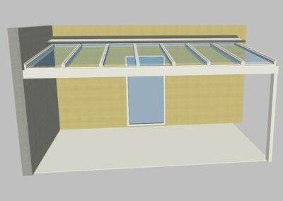 Visualisierung Terrassendach Glas, Sitzplatzüberdachung Glas,